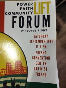 Program cover for Faith In The Valley Forum.
